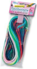 Transparante Baker Ross Silicon scoubidou touwtjes - creatieve knutselspullen voor kinderen en volwassen voor armband en tashanger maken (100 stuks)