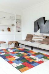 OSTA Eldorado – Vloerkleed – Tapijt – geweven – wol – eco – duurzaam - modern - boho - Rood Multi - 60x90