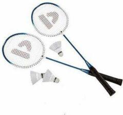Donnay Blauwe badmintonrackets met shuttels