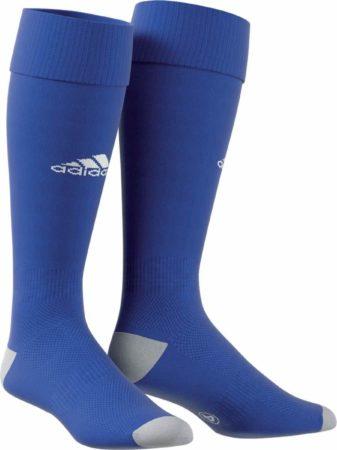 Afbeelding van Blauwe Adidas Milano 16 Sportsokken - Maat 40/41 - Unisex - blauw/wit/grijs