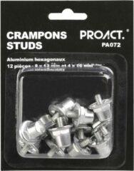 Grijze Proact PA072 - Voetbalnoppen - Noppen - 12 zeshoekige aluminium noppen 8x13mm en 4x16mm
