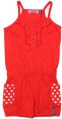 Ziezoo Meisjes Jumpsuit - rood-stip rood - Maat 80