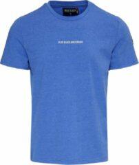 Blue Black Amsterdam TIES Kobalt Blauw Ronde Hals Basic Deluxe Heren T-shirt Maat M