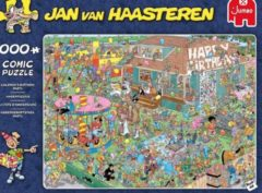 Donkerblauwe Jumbo Jan Van Haasteren Birthday Party legpuzzel 1000 stukjes