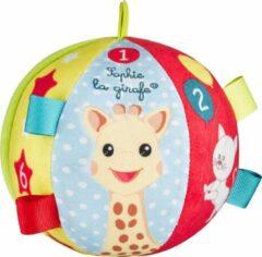 Rode Sophie de giraf stoffen speelbal