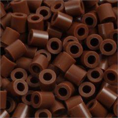 Nabbi Strijkkralen, afm 5x5 mm, gatgrootte 2,5 mm, chocolate (27), medium, 6000stuks