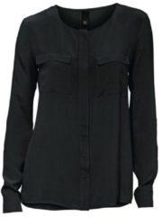 Zwarte Zijden blouse