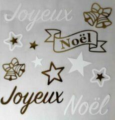"Peha Stickerset ""joyeux Noël"" 28,5 X 30,5 Cm Wit/goud 12-delig"
