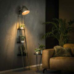 Zaloni Wandrek met lamp 186 cm hoog in oud zilver