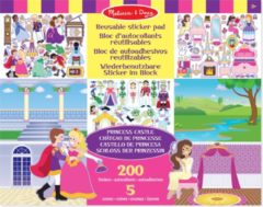 Melissa & Doug Stickerboek met herbruikbare stickers Prinsessen Kasteel - 175 Stickers