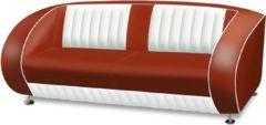 Donkerrode Bel Air Retro Fifties Furniture Bel Air Retro Bank SF-02CB Ruby