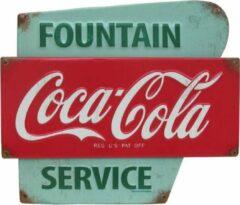 Rode Signs-USA Coca Cola Fountain - Retro Wandbord - Metaal - 28x33 cm