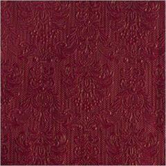 Bordeauxrode Ambiente 30x stuks Servetten bordeaux rood barok stijl 3-laags - elegance - barok patroon - Feest artikelen - feest decoraties