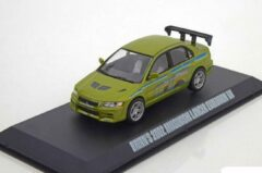 "Brian´s 2002 Mitsubishi Lancer Evolution VII ""Fast & Furious Groen 1/43 Greenllight Collectibles"