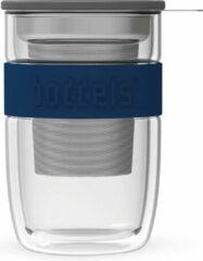 Transparante Boddels Seev Dubbelwandig Theeglas - 38 Cl - Blauw