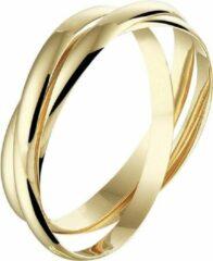 Goudkleurige Sparkle14 3-in-1 Dames Ring maat 55