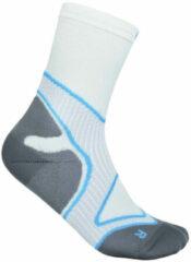 Bauerfeind Sports - Run Performance Mid Cut Socks - Hardloopsokken maat 38-40, grijs/wit
