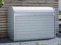 Grijze Biohort Fietsberging StoreMax® GR190 kwartsgrijs metallic - 190 x 97 x 136 cm