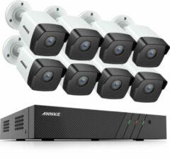 Witte Eve Audio ANNKE ACS-8 N48-I51DL-8 Beveiligingscamera set - PoE - 5MP - Met audio