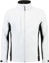 Donkergrijze Tricorp Soft Shell Jack Bi-Color - Workwear - 402002 - Wit Donkergrijs - maat L