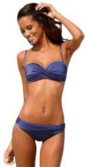 Blauwe LASCANA beugelbikini in bandeaumodel met 5 draagmogelijkheden