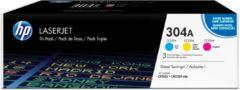 HP 304A - Tonercartridge / Cyaan / Magenta / Geel / 3-Pack