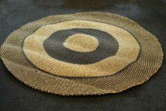 Beige Nusa Originals - Vloerkleed Natural en Zwart (200cm) - Scandinavian Stijl - Fairtrade
