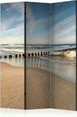 Blauwe Kamerscherm - Scheidingswand - Vouwscherm - Sea Breeze [Room Dividers] 135x172 - Artgeist Vouwscherm