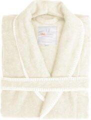 Volwassenen Luxe Dames Bamboe Badjas Ecru | XL | Comfortabel En Hoogwaardig | Stijlvolle Stiksel Randen
