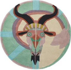 Ted Baker - Zodiac Capricorn 162005 Vloerkleed - 200 cm rond - Rond - Laagpolig, Rond Tapijt - Modern - Meerkleurig