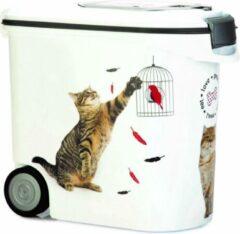 Curver - voedselcontainer kat - wit - 35l - 12kg