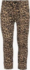 Ai-Girl meisjes jeans met luipaardprint - Bruin - Maat 104
