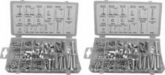Wood, Tools & Deco Set van 480 stuks bouten, moeren en ringen