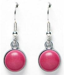 Roze Sugarz dames oorbellen Wood Pink
