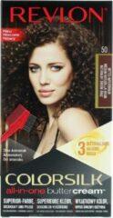 Bruine Revlon Luxurious Colorsilk Buttercream Hair Color 126.8ml - 50/41N Medium Natural Brown
