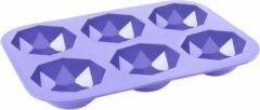 Paarse Cabantis 3D Diamant bakvorm|Siliconen bakvormen|Siliconen mallen|Bak spullen|Cake vorm|Chocolade cadeau|Chocolade diamant