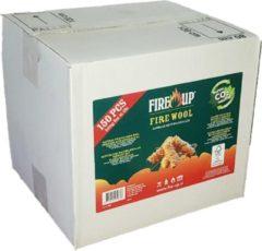 Fire-Up Fire Up Houtwol Aanmaakkrullen Voordeelbox 150 stuks - Milieuvriendelijk - CO2 Neutraal