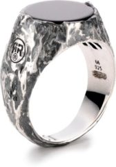 Rebel & Rose Rebel and Rose RR-RG008-S Ring Round Vintage Onyx zilver-zwart Maat 60