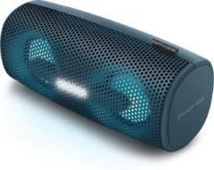Blauwe Muse Electronics Muse M-730 DJ - Spatwaterdichte draagbare bluetooth speaker met verlichting