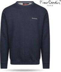 Grijze Pierre Cardin - Heren Sweater - Ronde Hals - Navy