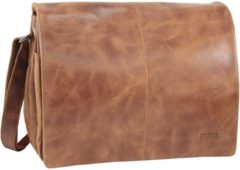 Greenland NATURE Light Messenger veredeltes Leder 34 cm braun