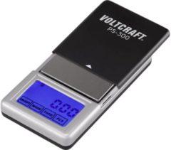 VOLTCRAFT VC-8912595 PS-200 Zakweegschaal Weegbereik (max.) 200 g Resolutie 0.01 g werkt op batterijen Zwart, Zilver