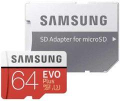 Samsung EVO Plus microSDXC-kaart 64 GB Class 10, UHS-I, UHS-Class 3 Incl. SD-adapter