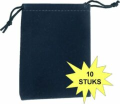 Marineblauwe Fako Bijoux® - Cadeau Zakjes - Velours - 7x9cm - Navy Blauw - 10 Stuks
