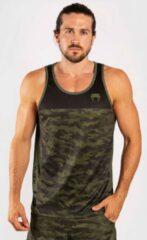 Groene Venum Trooper Tank Top Forest Camo Black Venum Shirt maat XXL