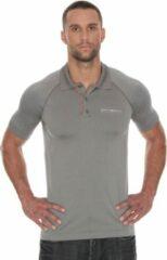 Brubeck Prestige Seamless Sport Poloshirt Golf / Tennis-Grijs-M