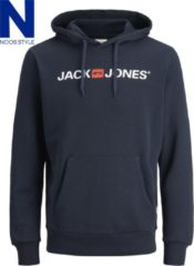Blauwe Jack & Jones JACK&JONES ESSENTIALS JJECORP OLD LOGO SWEAT HOOD NOOS Heren Trui - Maat L