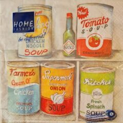 Home Fasion Home Fashion - servetten - 33 x 33 - lunchservetten - Soup in cans - Kitchen Cabinet