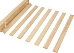 Links Link&acutes Rolllattenrost für Doppelbett 140 cm breit