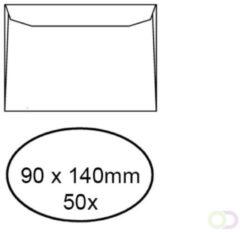 Envelop quantore voor visitekaart 90 x 140 mm 95 gr wit 50 stuks